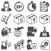 Icons set: Logistics — Vettoriale Stock