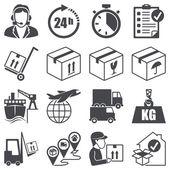 Icons set: Logistics — Stock Vector