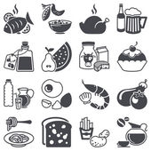 Icons set: Food and Drink — Stock Vector
