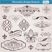 Decorative design elements — Stock Vector