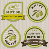 Olive oil labels. — Stock Vector