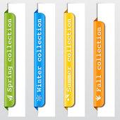 Elements design. Seasonal collection titles — Stock Vector