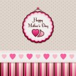 Happy Mother's Day, greeting card. — Imagen vectorial