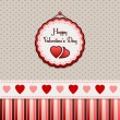 Happy Valentine's Day. Background. — Vettoriali Stock