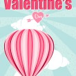 Greeting card: Happy Valentine's Day — Vektorgrafik