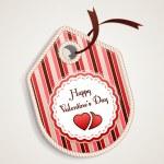 Valentine's Day label. — Stock Vector