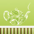 Royalty-Free Stock Vector Image: Teapot background.