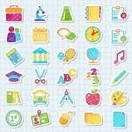 Stickers college. — Stock Vector