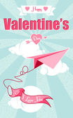 Greeting card: Happy Valentine's Day. — Stock Vector