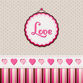 Greeting card: Love — Stock Vector