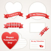 Elements design. Valentine's Day set. — Stock Vector
