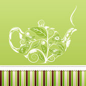 Teapot background. — Stock Vector