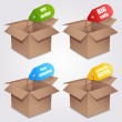 Stock Vector: Shopping boxes.
