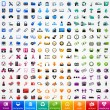 Stok Vektör: Set colorful icons