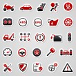 Vector de stock : Automotive red stickers.