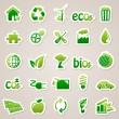 Наклейки о концепции экология — Cтоковый вектор