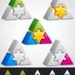 Elements design. Prism puzzle - Imagens vectoriais em stock