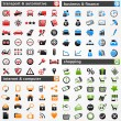 Stockvector : Icon set: