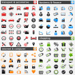 Icon set: - Stockvectorbeeld