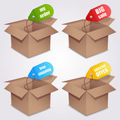 Shopping boxes. — Stock Vector