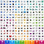 набор красочных иконок — Cтоковый вектор