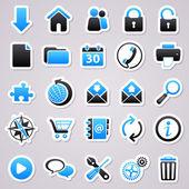 Stickers set: web — Stock Vector