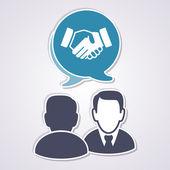 концепция совещания — Cтоковый вектор