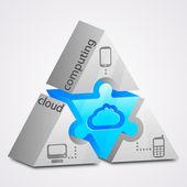 Prism puzzle: cloud computing concept — Stock Vector