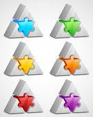 Elements design. Prism puzzle — Stock Vector