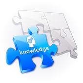 Knowledge puzzle concept. — Stock Vector