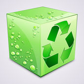 Recycle cube. — Stock Vector