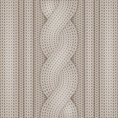 Knitted woolen texture — Stock Vector