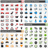 Icon set: — Vector de stock