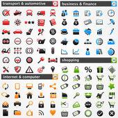 Set di icone: — Vettoriale Stock
