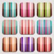 Striped squares. Colorful apps background. — 图库矢量图片