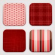 Red textile squares. — Stock Vector #24490427