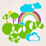Green World — Stock Vector