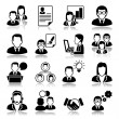 Stockvektor : Icons set: business
