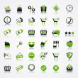 Shopping icons with reflection. — Vetor de Stock  #24493035