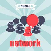 Koncept sociální sítě. — Stock vektor