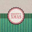 Stock Vector: Card design. Christmas retro background.