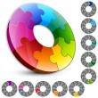 Elements design. Circle puzzle. — Stock Vector