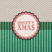 Card design. Christmas retro background. — Stock Vector