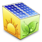 Solar energy concept — Stock Vector