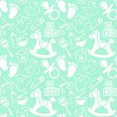 Babies Mint pattern — Stock Vector
