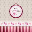 It's a girl — Vector de stock