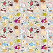 Food pattern — Stock Vector #24835127
