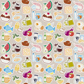 Food pattern — Stock Vector