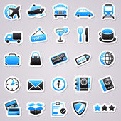 Transportation stickers — Vettoriale Stock