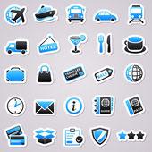 Transportation stickers — Stock Vector